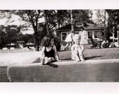 Original Vintage photo lot of 30 snapshots various pictures children people swimming
