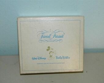 Vintage Trivial Pursuit Walt Disney Family Edition Card Set 11401