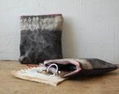 DRIFTER hand-dyed zip pouch