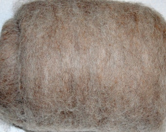Llama Fiber, Fiber Batt, for Spinning, Felting, Needle Felting, Nuno Felting and Baby Photo Props, Gray, Taupe 4 oz.