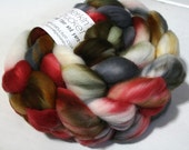 hand dyed fiber - SW Merino fiber - Winter Wear colorway