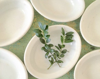 Dish It Out... Antique Vintage Ironstone Oval Bowl Dish Farmhouse Decor Instant Collection Set of Six