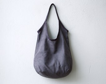 sale - SLING  - Navy or Petrol leather tote - soft leather tote - light nubuk leather tote