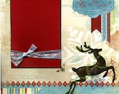Fröhlich sein - vorgefertigten Winterurlaub Scrapbook Seite