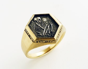 Shallow Grave Ring 14k/ Silver