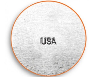 teeny tinyDesign Stamp - USA Marking - 1.5mm stamped image by ImpressArt -  includes How to Stamp Metal tutorial