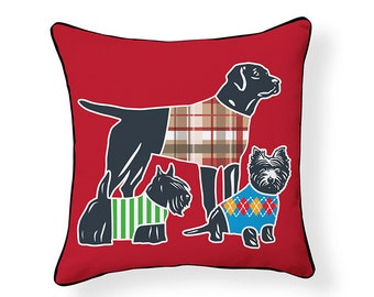 Dog Parade Pillow