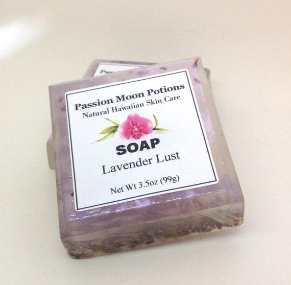 Lavender Lust Hand and Body Soap. 100% Vegan. Gluten Free. Lavender Flowers. Organic essential oils.