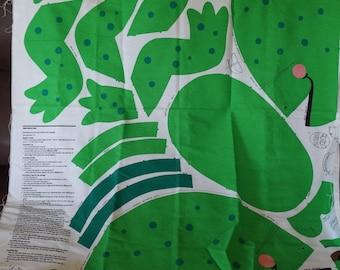 Froggy Frog Duffle Bag Fabric Panel