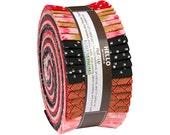 "Robert Kaufman SATSUKI BLOSSOM Metallic Roll Up 2.5"" Precut Fabric Quilting Strips Jelly Roll RU-537-40"