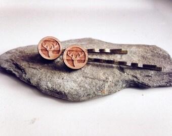 Wooden Hair Pins