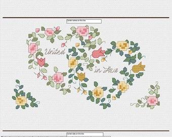 BLANK Wedding cross stitch pattern - Instant Download PDF