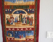 Christmas Nativity Quilted Wall Hanging