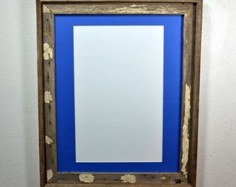 16x20 poster frame,shabby chic style, with mat 11x17 or 12x18