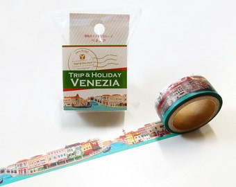 Venezia Tape Round Top Masking Tape • Venice Yano Design Trip & Holiday Washi Tape YD-MK-098