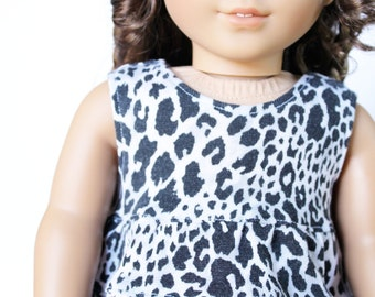 Fits like American Girl Doll Clothes - Repurposed Cheetah Print Top and Fuchsia Shorts