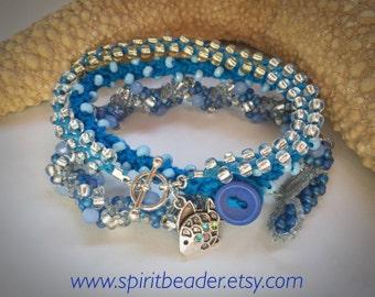 Tri Tropical Cerulean Bliss Bracelet Set of Three