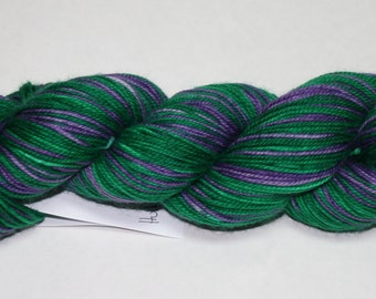 Hulk Smash Self Striping Hand Dyed Sock Yarn