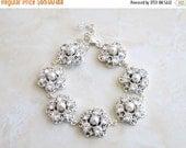 27% Off Sale Wedding Jewelry Bridal Bracelet CZ Pearl Silver Bracelet GB2