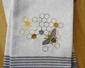 Honeycomb and Bee Kitchen Towel