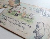 Classic Winnie The Pooh Handmade Postcards