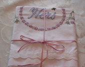 HIS and HERS Hand- Embroidered Pillowcases - Reserved for Teresa Newman