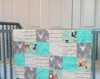 Hello Bear Patchwork Baby Blanket-2 sizes available