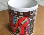Valentine Mug, Love Park Wife Gift Coffee Mug Girlfriend Red And Blue Mug Boyfriend Gift Valentines Day Mug Photo Mug Ceramic White Mug