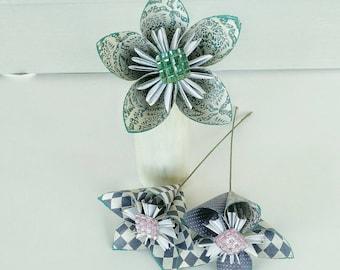 Large Kusudama flower custom  made  to  order hand  crafted