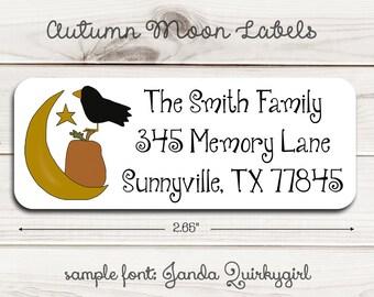Autumn Moon Return Address Labels