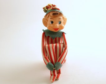 Vintage Christmas Decoration Pixie Ornament Elf Kneehugger Good Luck