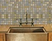 "Slate Mosaic Easy Peel and Stick Wallpaper 8' Panel (96"")"