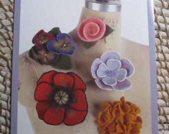Indygo Junction IJ750 - Needle Felted Flowers Pattern - Diane McCauley Design