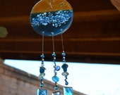 Custom Order Reserved for Janet Ocean Blue Beach Windchime with Starfish