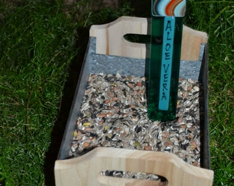 Aloe Vera Garden Stake, Gardener, Gift Plant Stake, Garden Stake