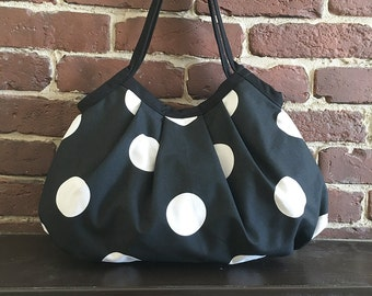 SALE 30% OFF - Granny Bag - Oxygen Dots Black/White