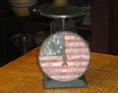 Americana Vintage Kitchen Scale Handpainted And Stenciled