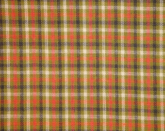 Homespun Fabric | Small Check Fabric | Primitive Cotton Fabric | Quilt Fabric | Home Decor Fabric | Apparel Fabric | Craft Fabric | 1 Yard