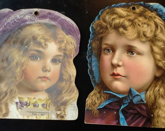 Victorian Trade Card Calendar Topper Lot Hood's Sarsaparilla 1888-1897 Lowell Lithographs