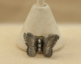 Butterfly Pin/Brooch Double Wings Sterling Silver Vintage