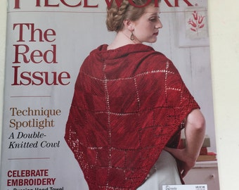 PieceWork Maazine, The Red Issue, Knitting, Shawls, Cowls, Embroidery, Russian, Guatemalan, Belarusian