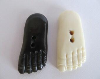Bone Beads, Focal Bead, Bone Foot Pendant