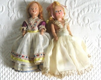 vintage doll . vintage virga doll . virga doll . lot of 2