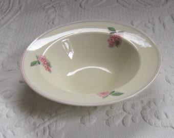 cavitt-shaw pink rose .  soup bowl . pink rose soup bowl . soup plate . cavitt shaw soup bowl . ranchero roses