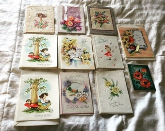 Collection of 1950's Sympathy Cards never used