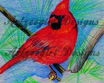 Cardinal, Print