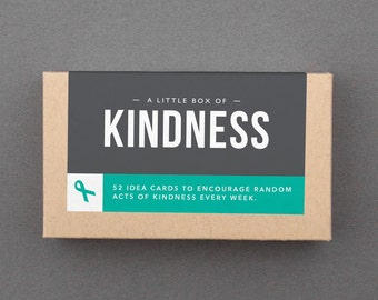 "52 Random Acts of Kindness Cards. Good Deeds. ROAK. Be Kind. Gratitude. Small Gift Idea Under 20. ""Box of Kindness"" (L5K01)"