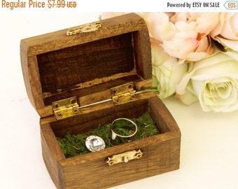 Ring Bearer Box + Wood Ring Bearer Box +Rustic Chic wedding ring bearer box