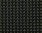 Windham Wild Field Triangles Olive - Cotton Quilting Fabric  - fat 1/4 remnant