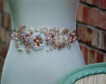 Bridal belt, CARA, wedding dress sash, wedding belt, bridal sash,wedding dress sash and belt SALE